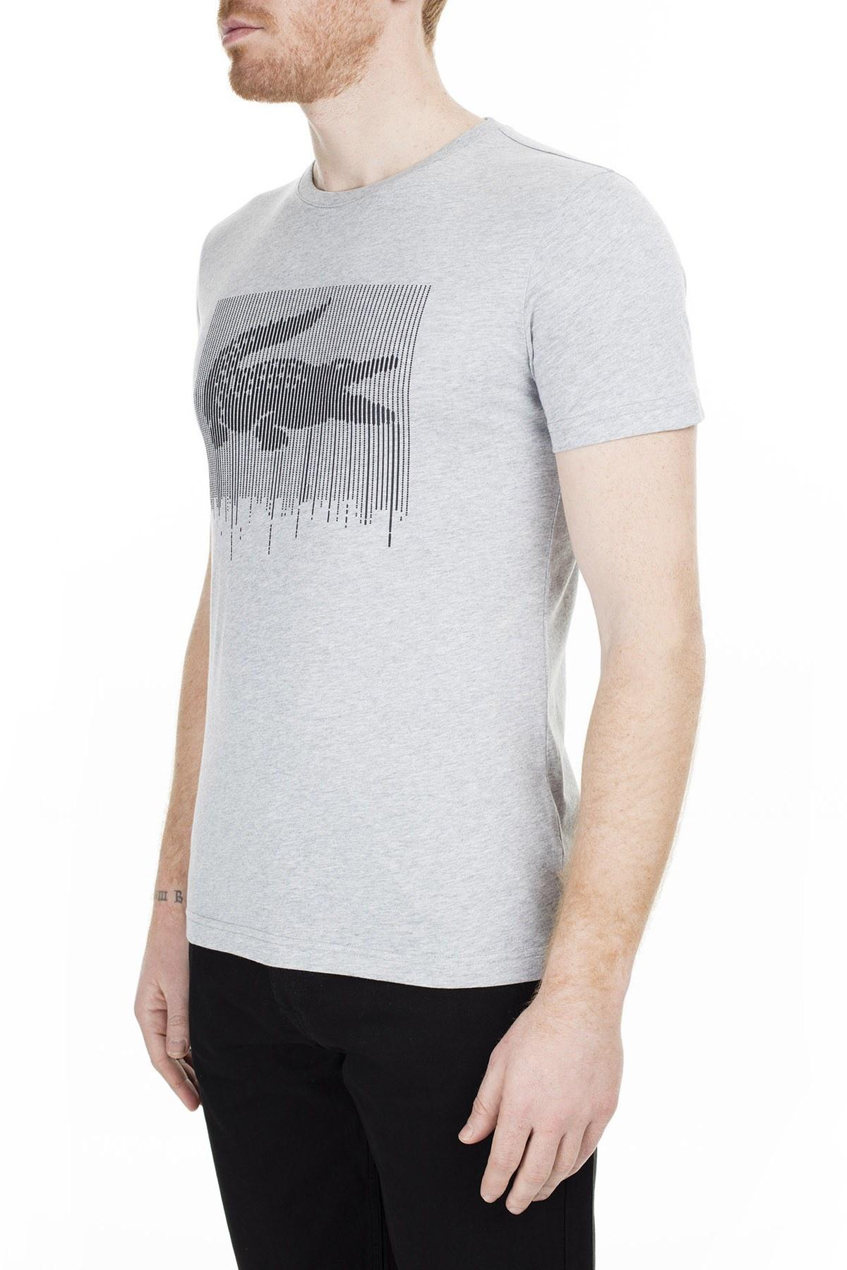 Lacoste Erkek T Shirt TH0013 13G GRİ