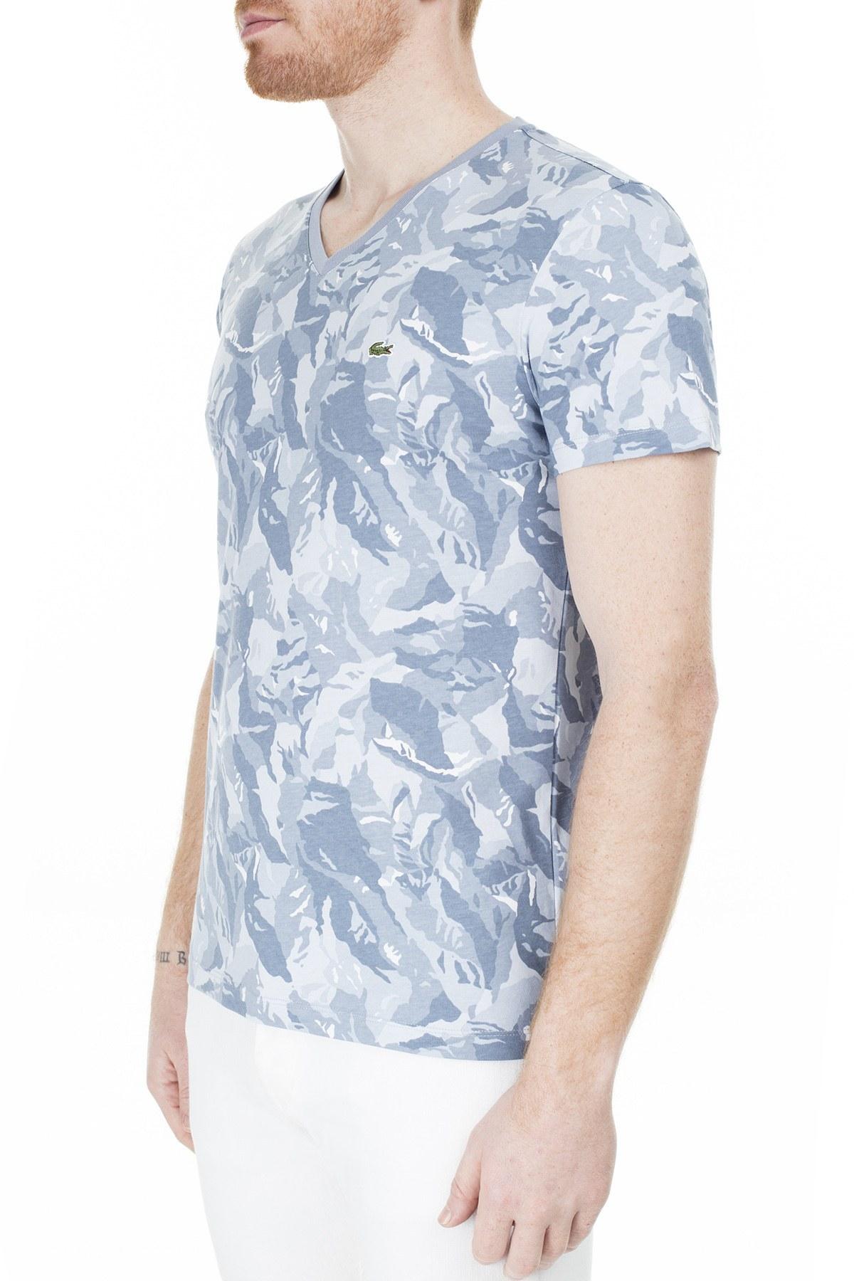 Lacoste Erkek T Shirt TH0018 18A BEYAZ