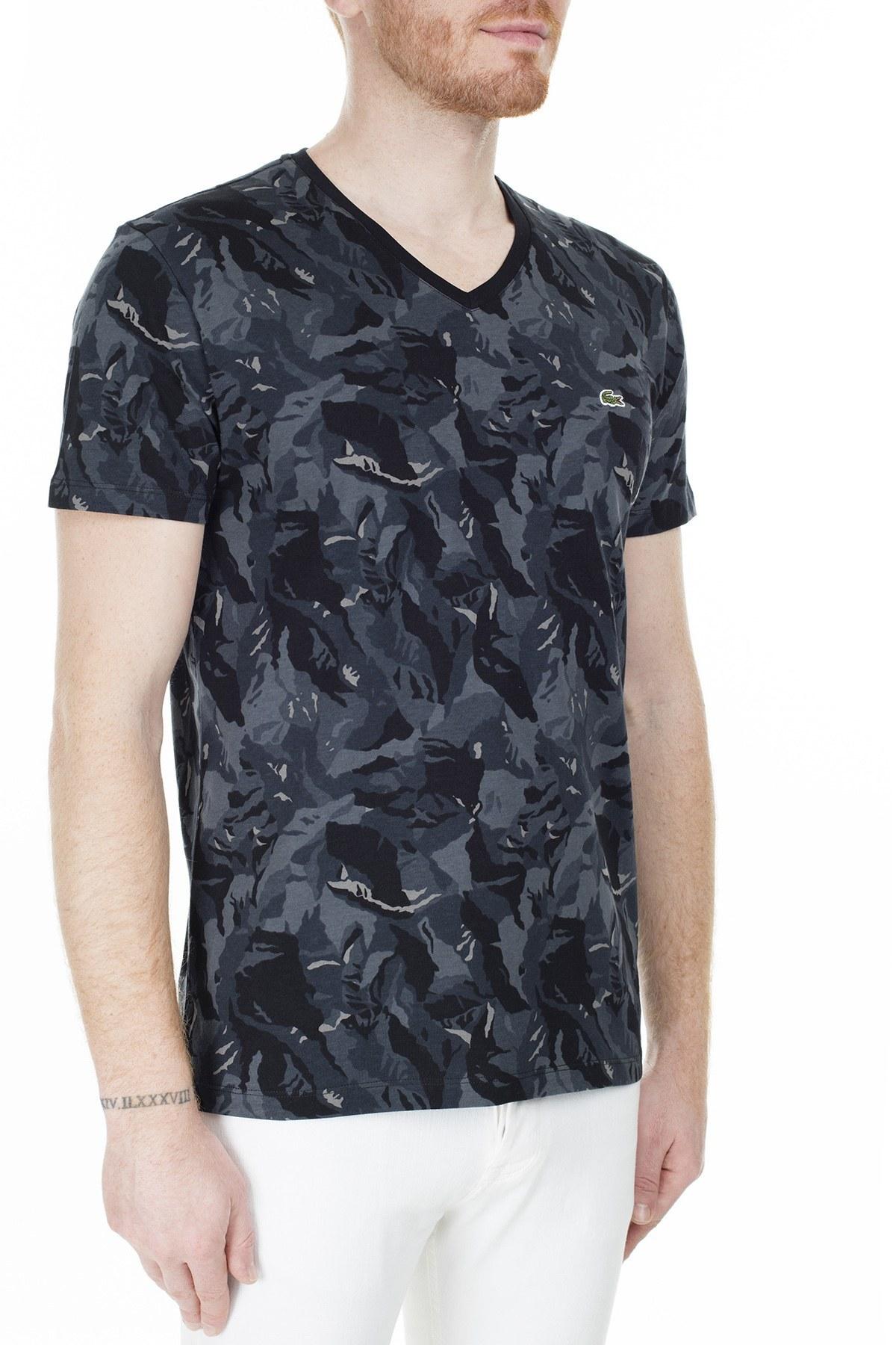 Lacoste Erkek T Shirt TH0018 18S SİYAH