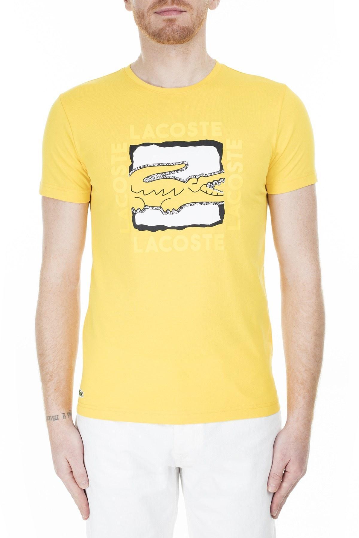 Lacoste Erkek T Shirt TH4887 RUZ SARI
