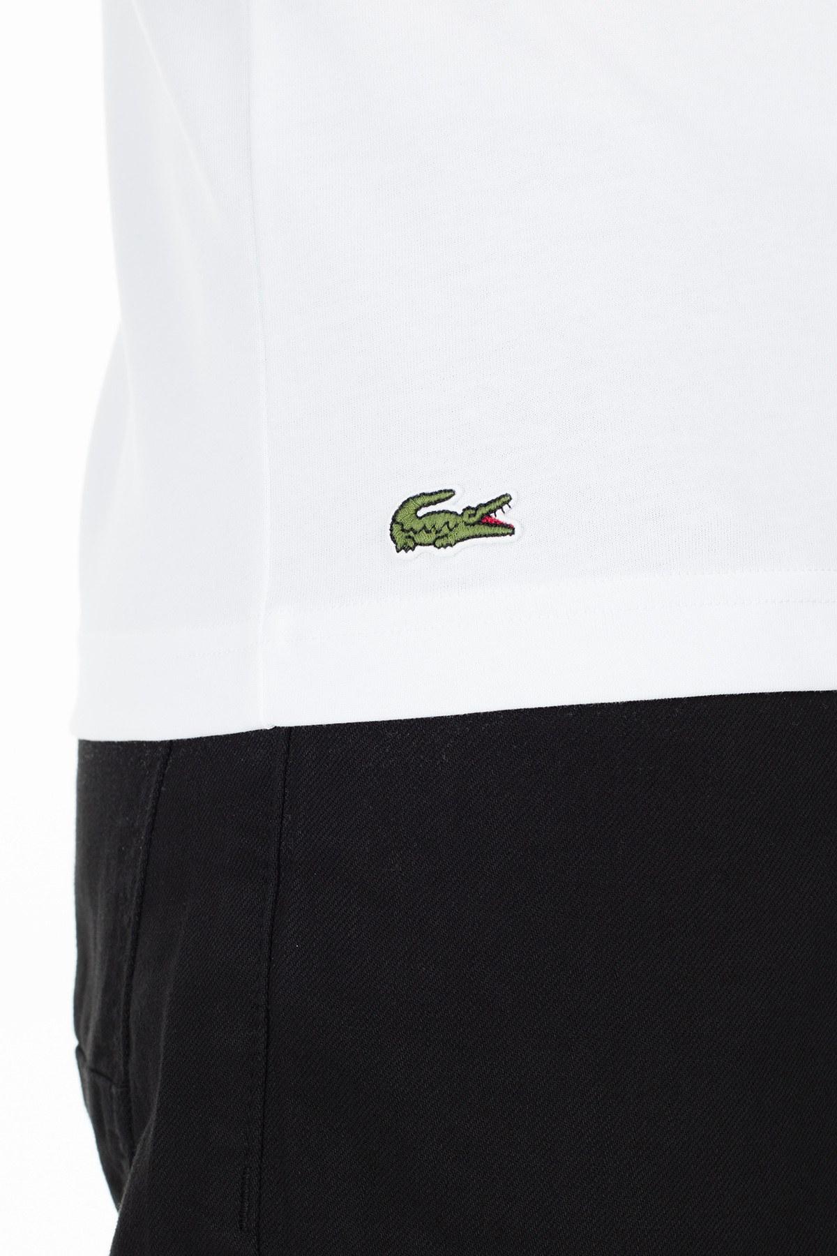 Lacoste Erkek T Shirt TH4887 SY4 BEYAZ