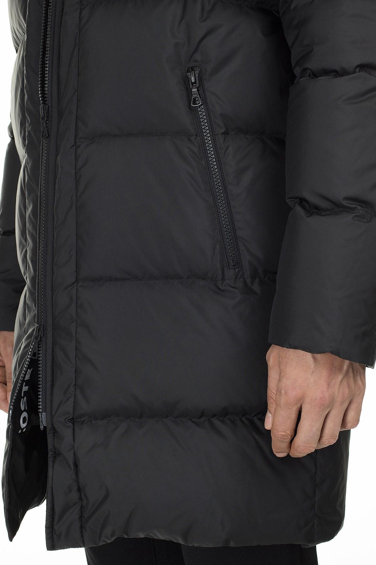Lacoste Kapüşonlu Suya Dayanıklı Uzun Erkek Mont BH2153 53S SİYAH