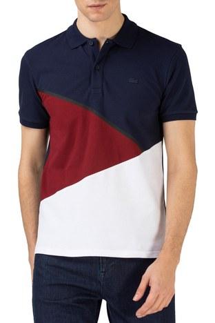 Lacoste - Lacoste Pamuklu Regular Fit T Shirt Erkek Polo PH0131 31L LACİVERT