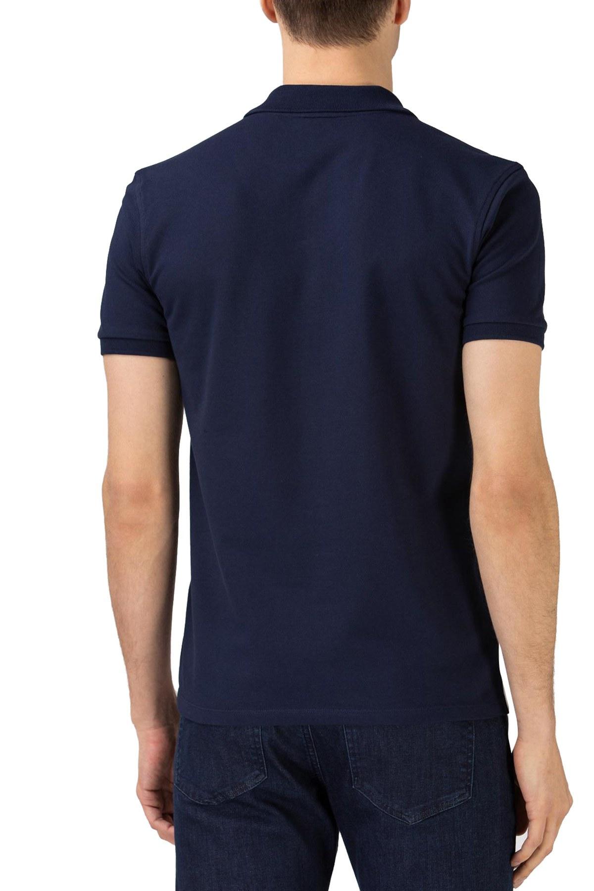 Lacoste Pamuklu Regular Fit T Shirt Erkek Polo PH0131 31L LACİVERT