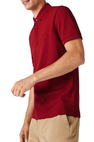 Lacoste - Lacoste Pamuklu Regular Fit T Shirt Erkek Polo PH5522 Z1Q BORDO