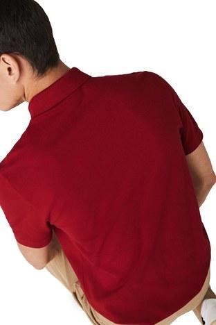 Lacoste - Lacoste Pamuklu Regular Fit T Shirt Erkek Polo PH5522 Z1Q BORDO (1)