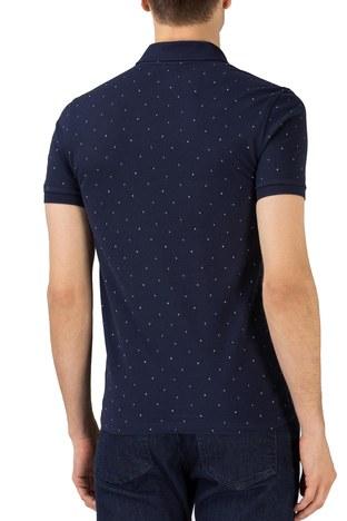 Lacoste - Lacoste Pamuklu Slim Fit Düğmeli T Shirt Erkek Polo PH0158 58L LACİVERT (1)