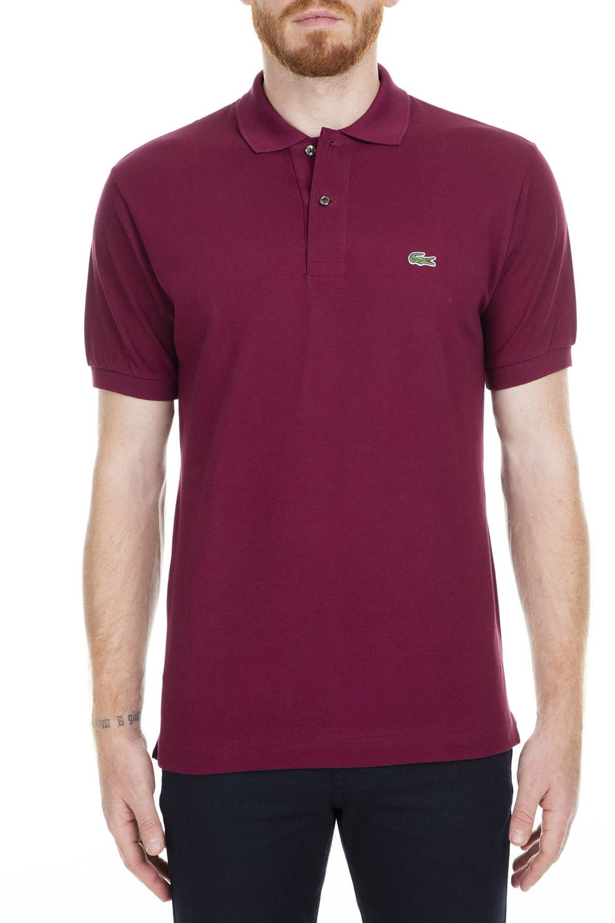 Lacoste Polo Erkek T Shirt L1212 DRD BORDO