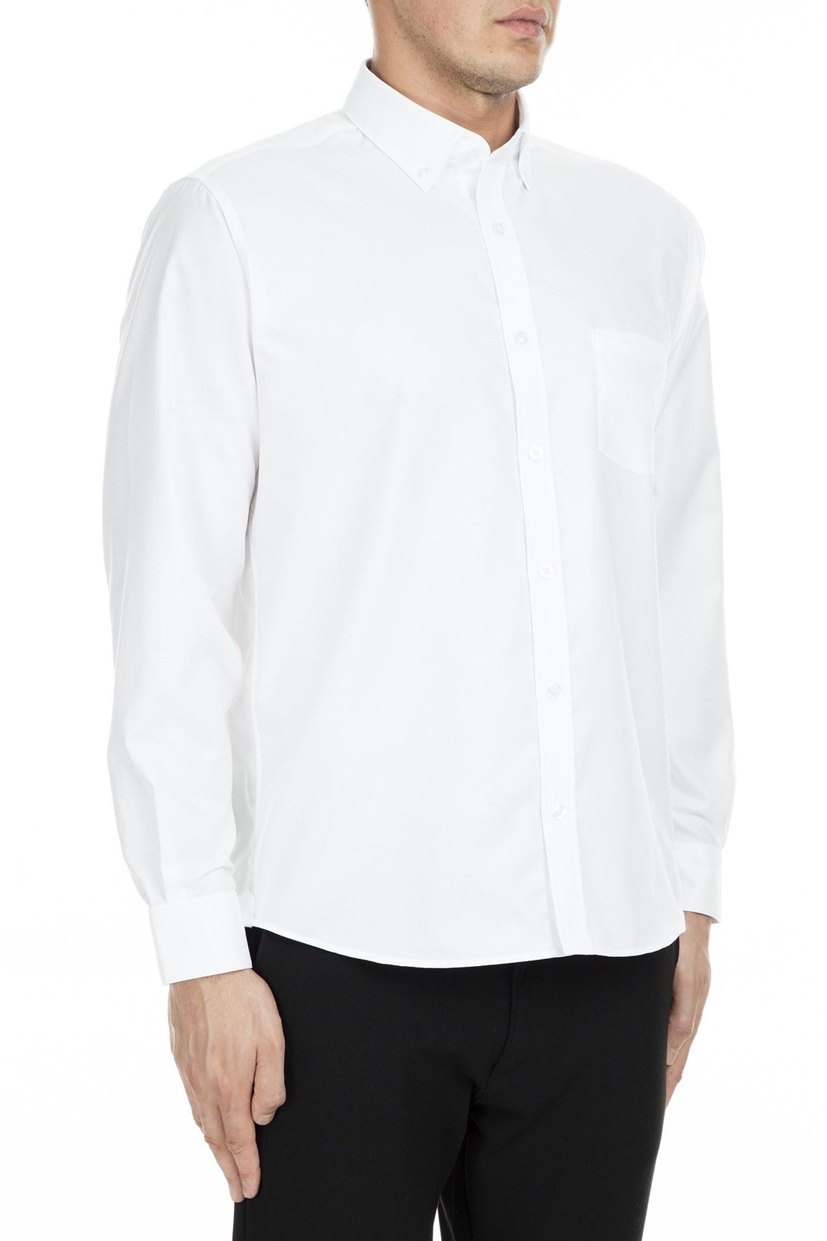 Lacoste Regular Fit Erkek Gömlek CH9623 800 BEYAZ