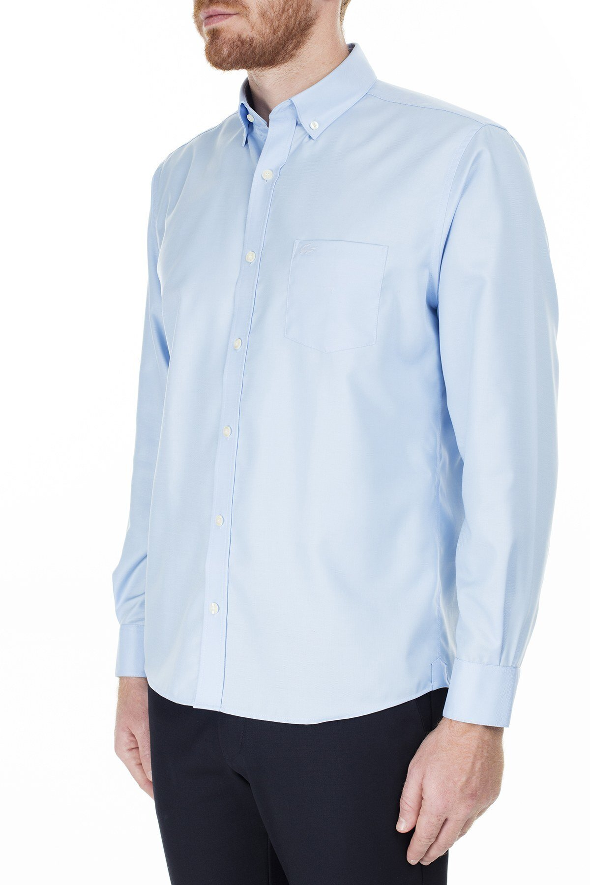Lacoste Regular Fit Erkek Gömlek CH9623 NSV MAVİ