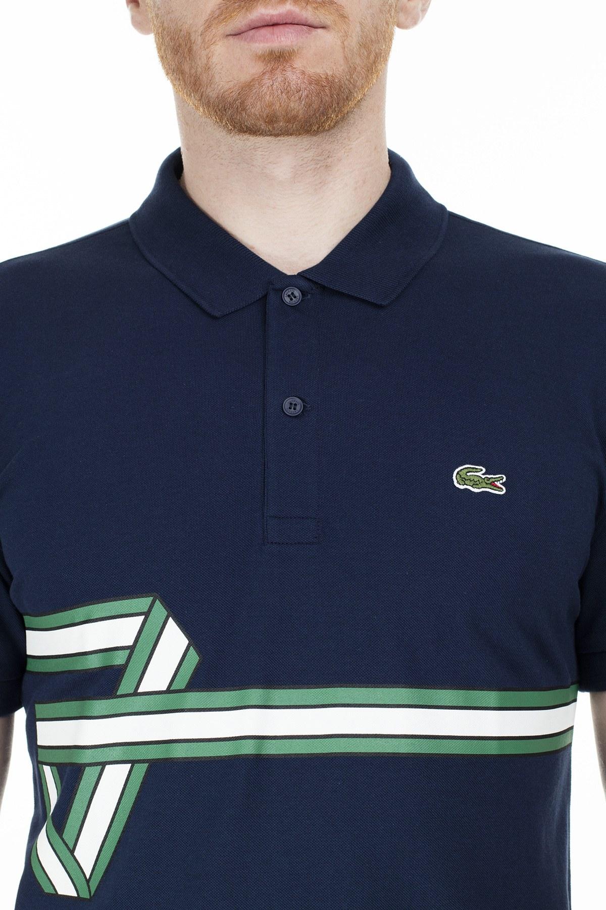 Lacoste Regular Fit T Shirt Erkek Polo PH5094 166 LACİVERT