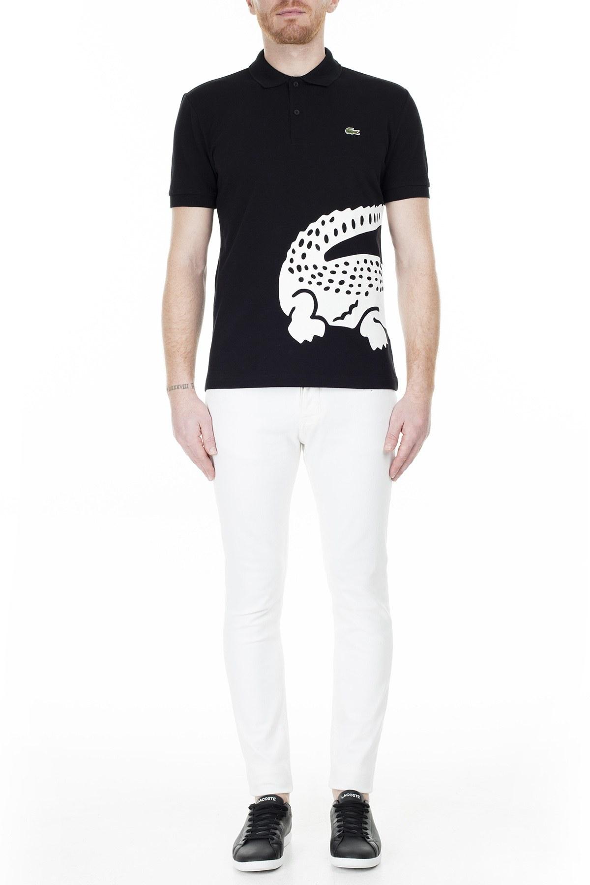 Lacoste Regular Fit T Shirt Erkek Polo PH5284 031 SİYAH