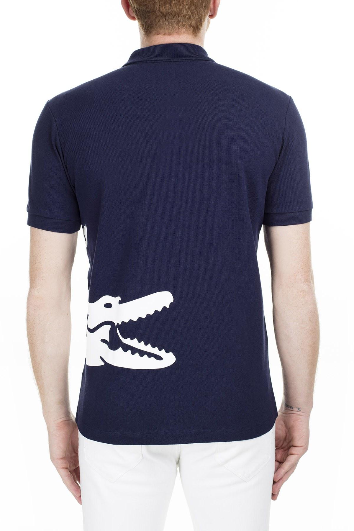 Lacoste Regular Fit T Shirt Erkek Polo PH5284 166 LACİVERT