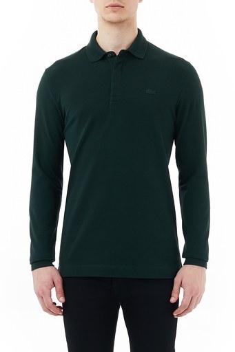 Lacoste Regular Fit Uzun Kollu Pamuklu T Shirt Erkek Polo PH2481 YZP HAKİ