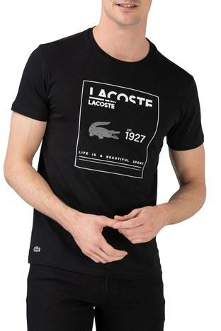Lacoste - Lacoste Erkek T Shirt TH0101 01S SİYAH