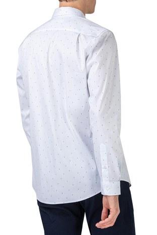 Lacoste - Lacoste Slim Fit Düğmeli Yaka Pamuklu Erkek Gömlek CH0175 75B BEYAZ (1)