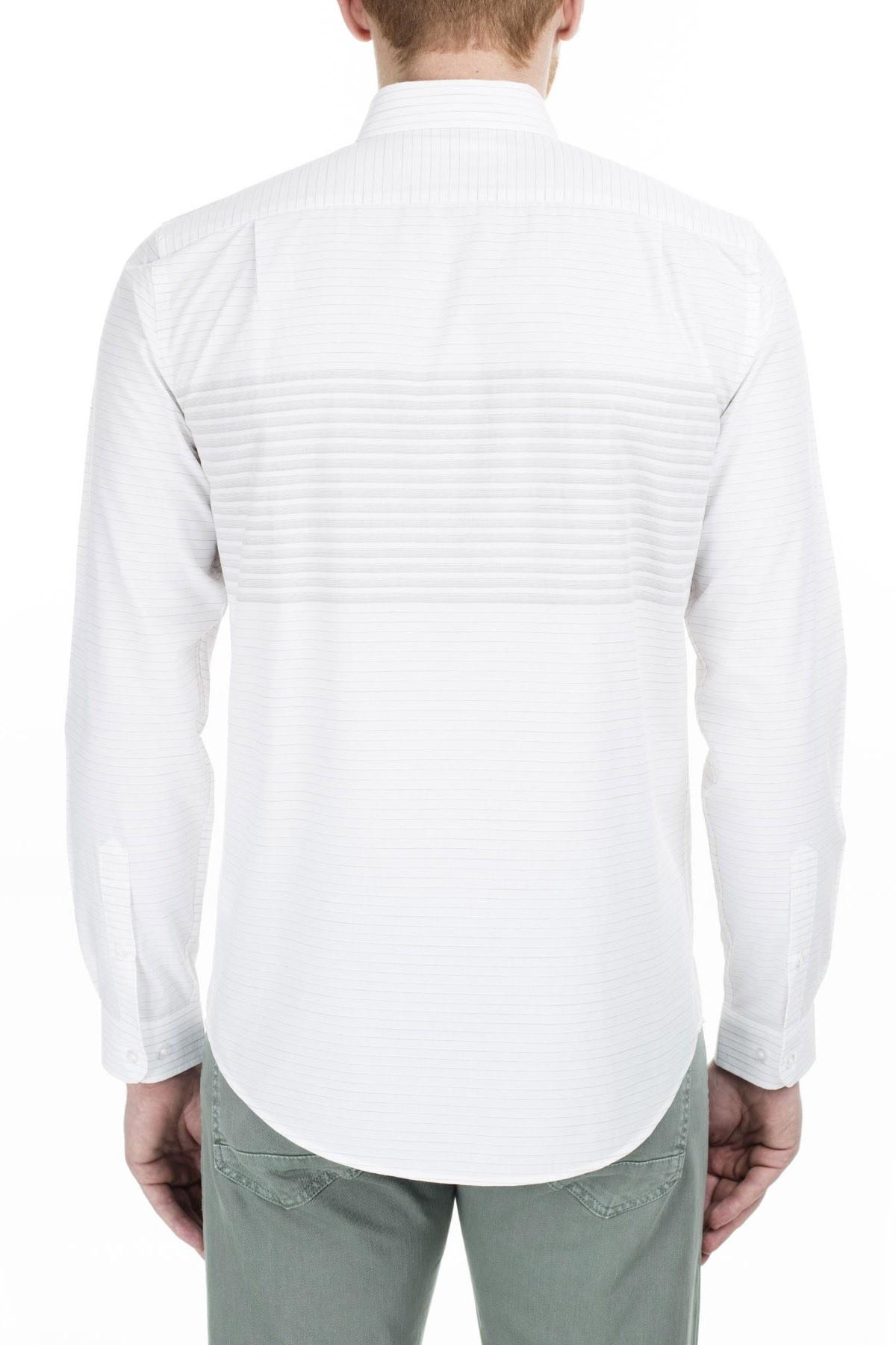 Lacoste Slim Fit Erkek Gömlek CH0013 13Y HAKİ