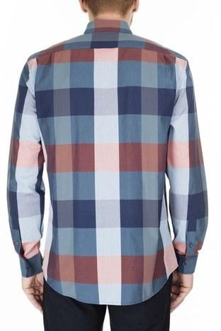 Lacoste - Lacoste Slim Fit Erkek Gömlek CH0071 71M SAKS-MAVİ (1)