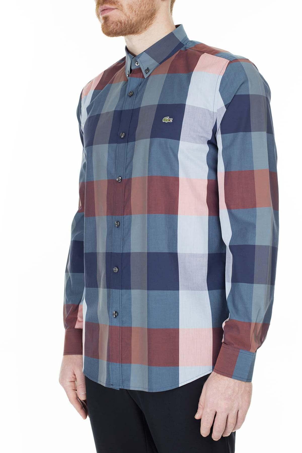 Lacoste Slim Fit Erkek Gömlek CH0071 71M SAKS-MAVİ