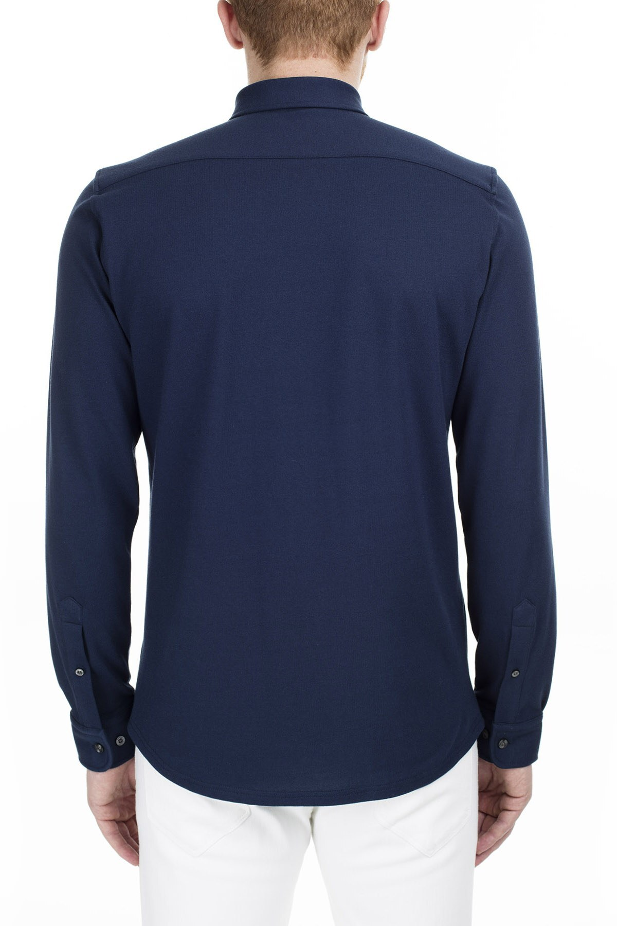 Lacoste Slim Fit Erkek Gömlek CH0953 53L LACİVERT