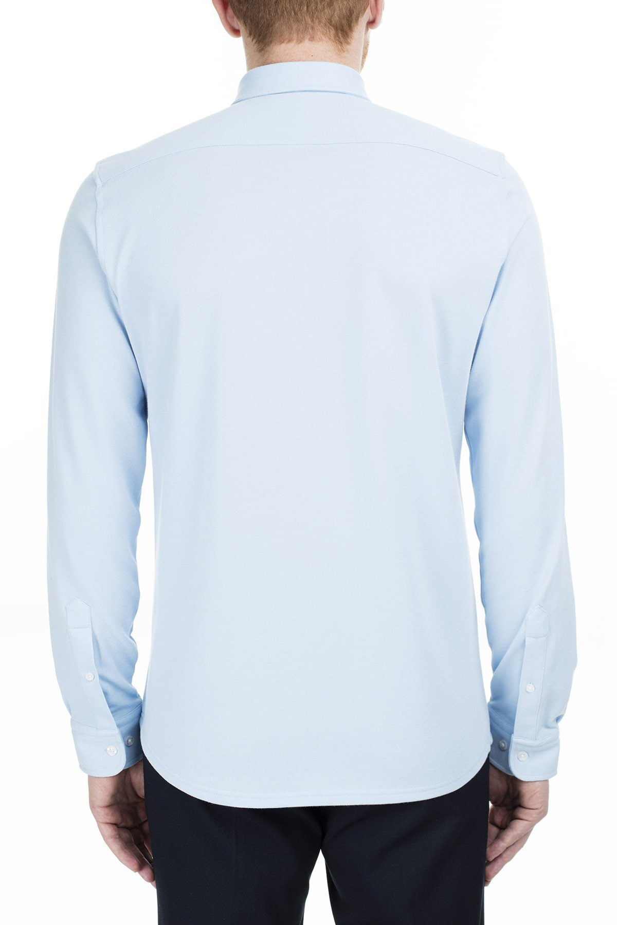 Lacoste Slim Fit Erkek Gömlek CH0953 53M AÇIK MAVİ