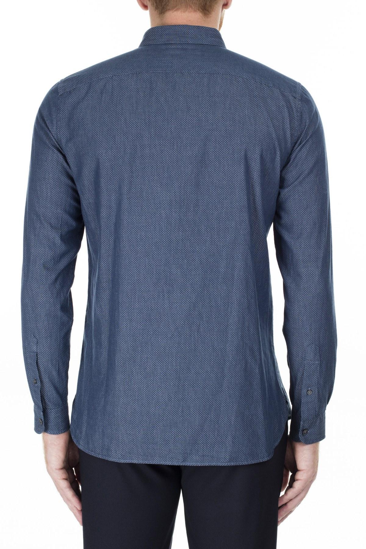 Lacoste Slim Fit Erkek Gömlek CH2043 43L LACİVERT