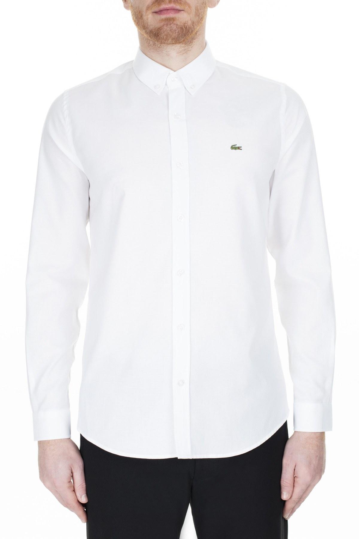 Lacoste Slim Fit Erkek Gömlek CH4976 001 BEYAZ