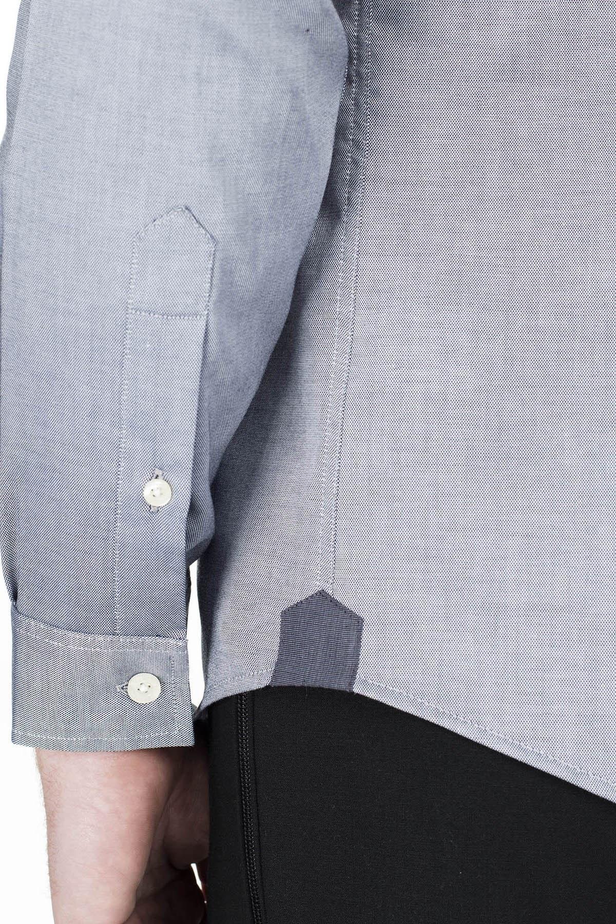 Lacoste Slim Fit Erkek Gömlek CH4976 423 LACİVERT