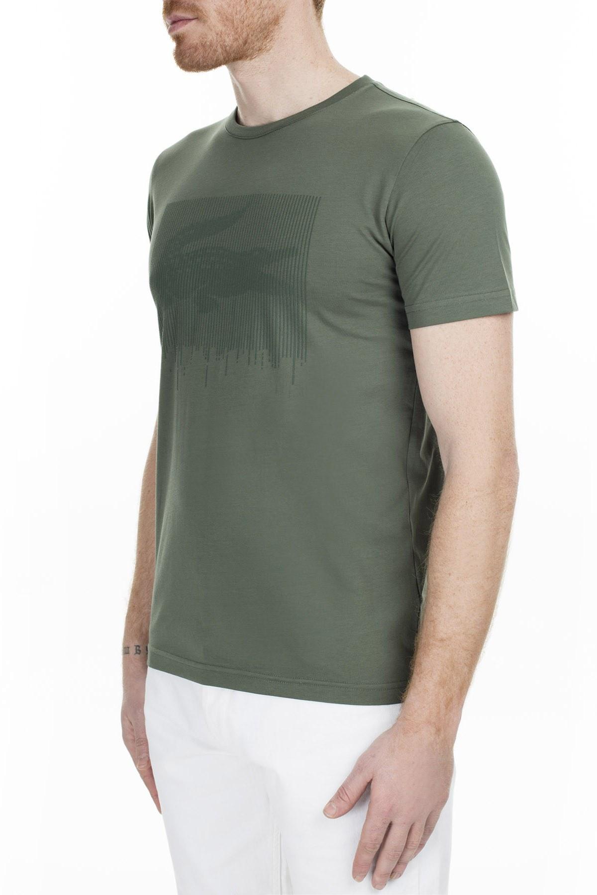 Lacoste Slim Fit Erkek T Shirt TH0013 13H HAKİ