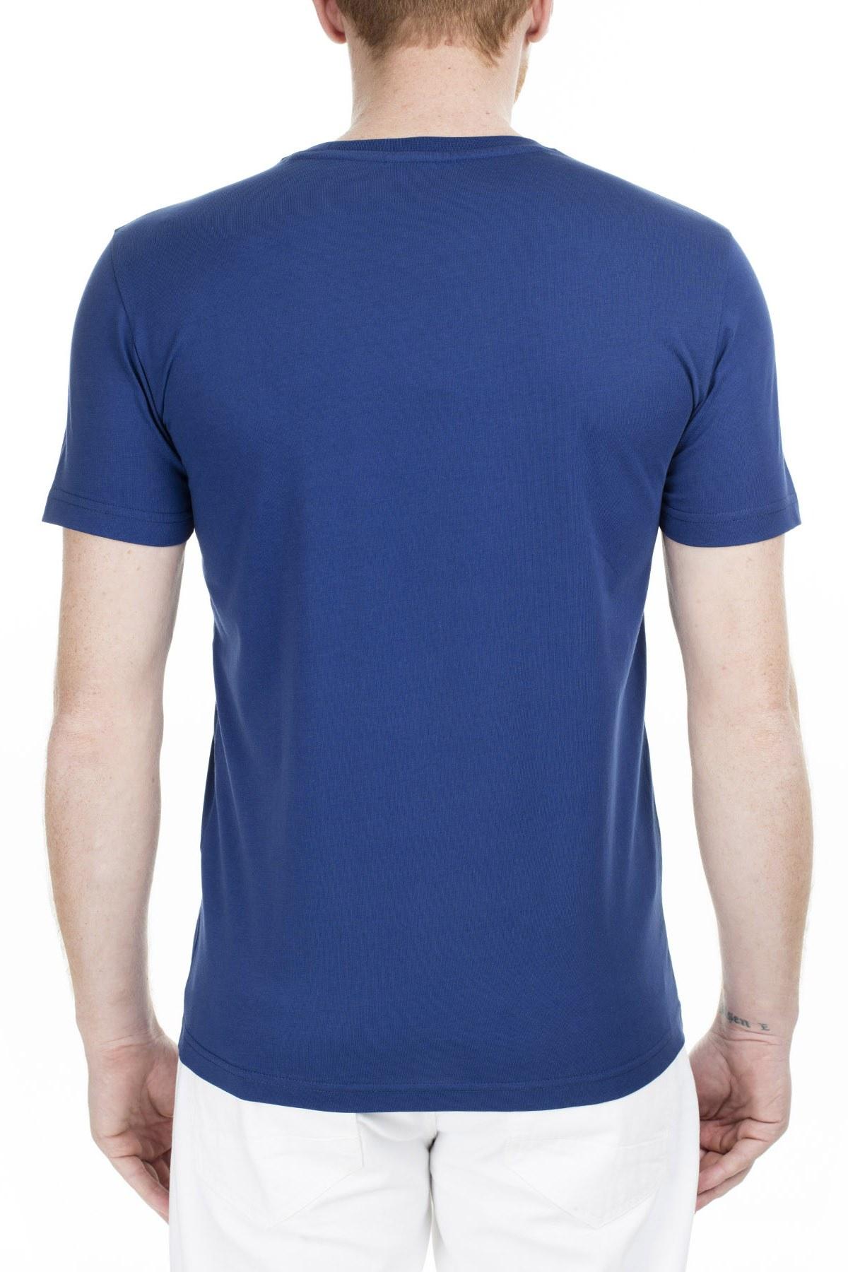 Lacoste Slim Fit Erkek T Shirt TH0013 13M SAKS-MAVİ