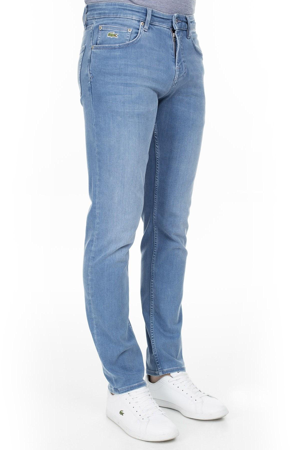 Lacoste Slim Fit Jeans Erkek Kot Pantolon HH0010 10M AÇIK MAVİ