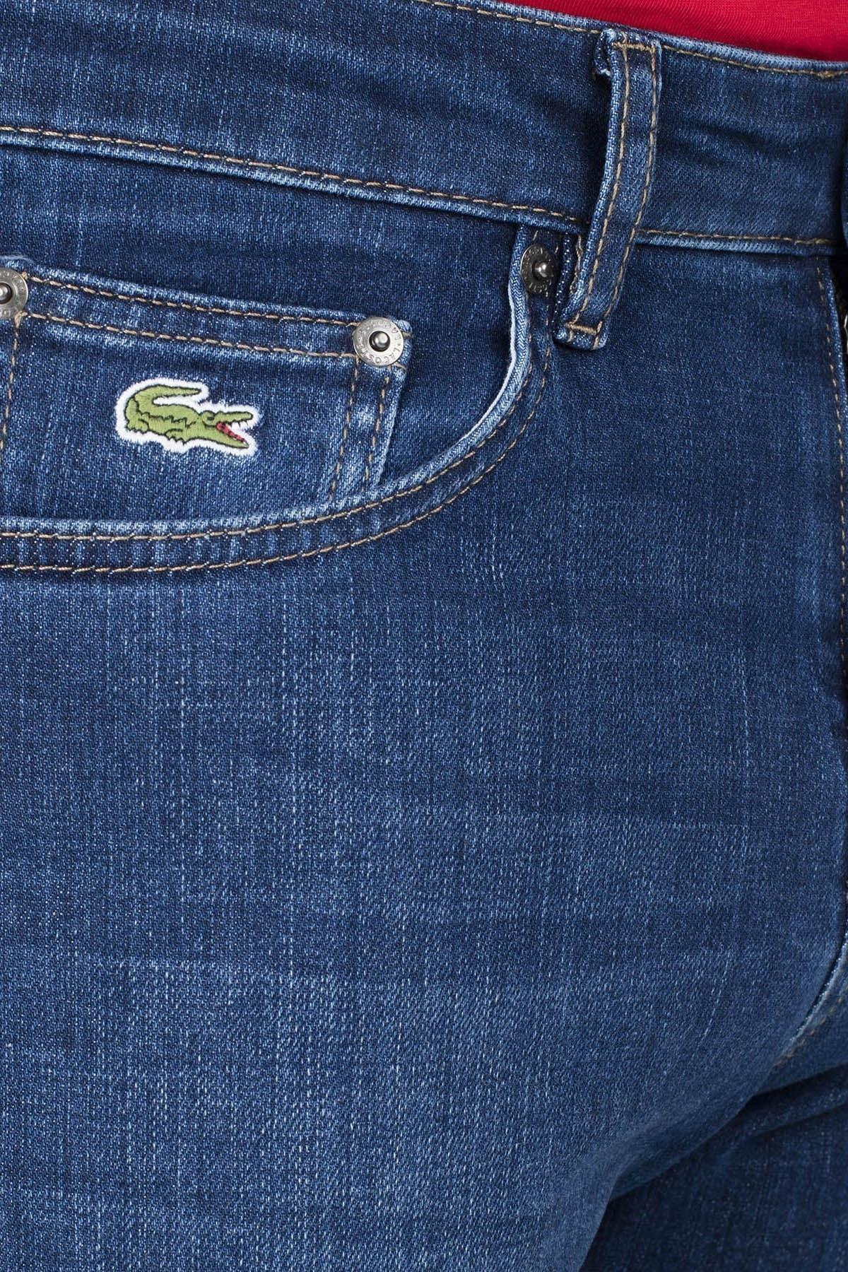 Lacoste Slim Fit Jeans Erkek Kot Pantolon HH0950 50L LACİVERT