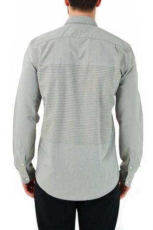 Lacoste - Lacoste Slim Fit Pamuklu Uzun Kollu Erkek Gömlek CH0192 92H HAKİ (1)