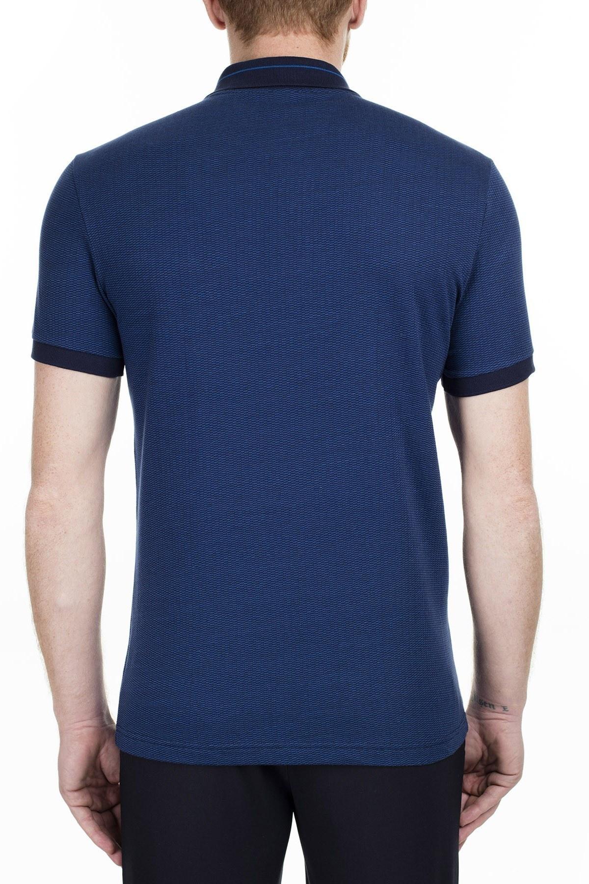 Lacoste Slim Fit T Shirt Erkek Polo PH0030 30L LACİVERT