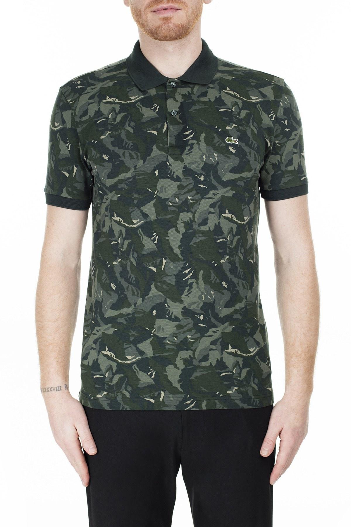 Lacoste Slim Fit T Shirt Erkek Polo PH0061 61H HAKİ