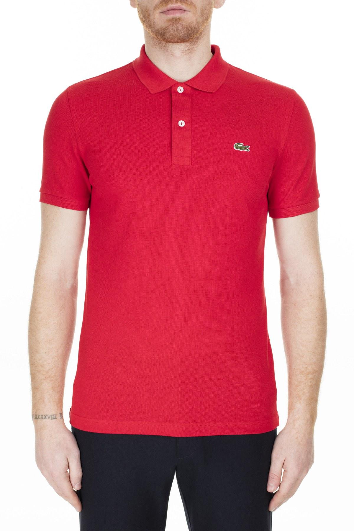 Lacoste Slim Fit T Shirt Erkek Polo PH4012 240 KIRMIZI