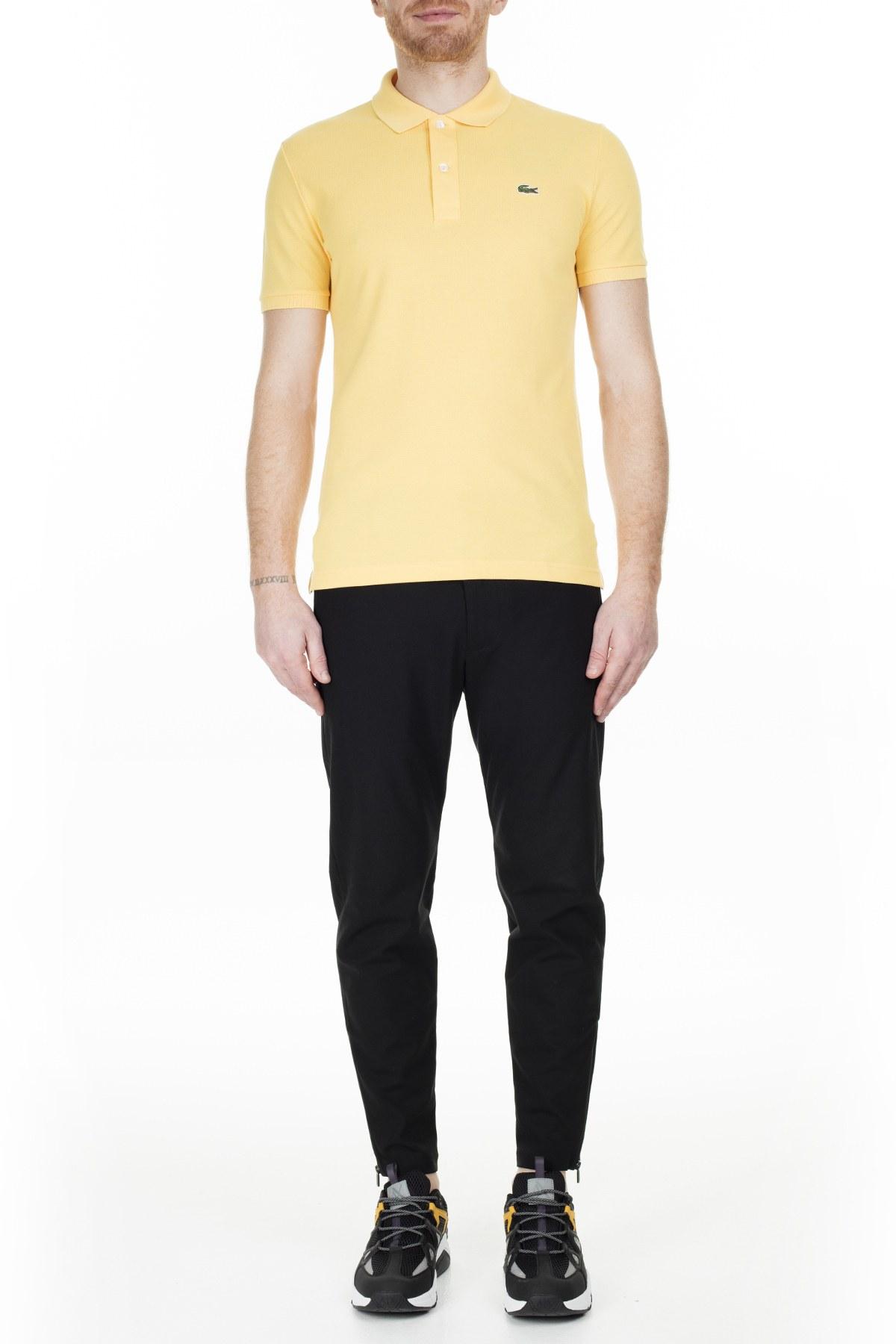 Lacoste Slim Fit T Shirt Erkek Polo PH4012 Z0A SARI