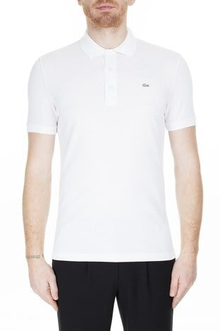 Lacoste - Lacoste Pamuklu Slim Fit T Shirt Erkek Polo PH4014 001 BEYAZ