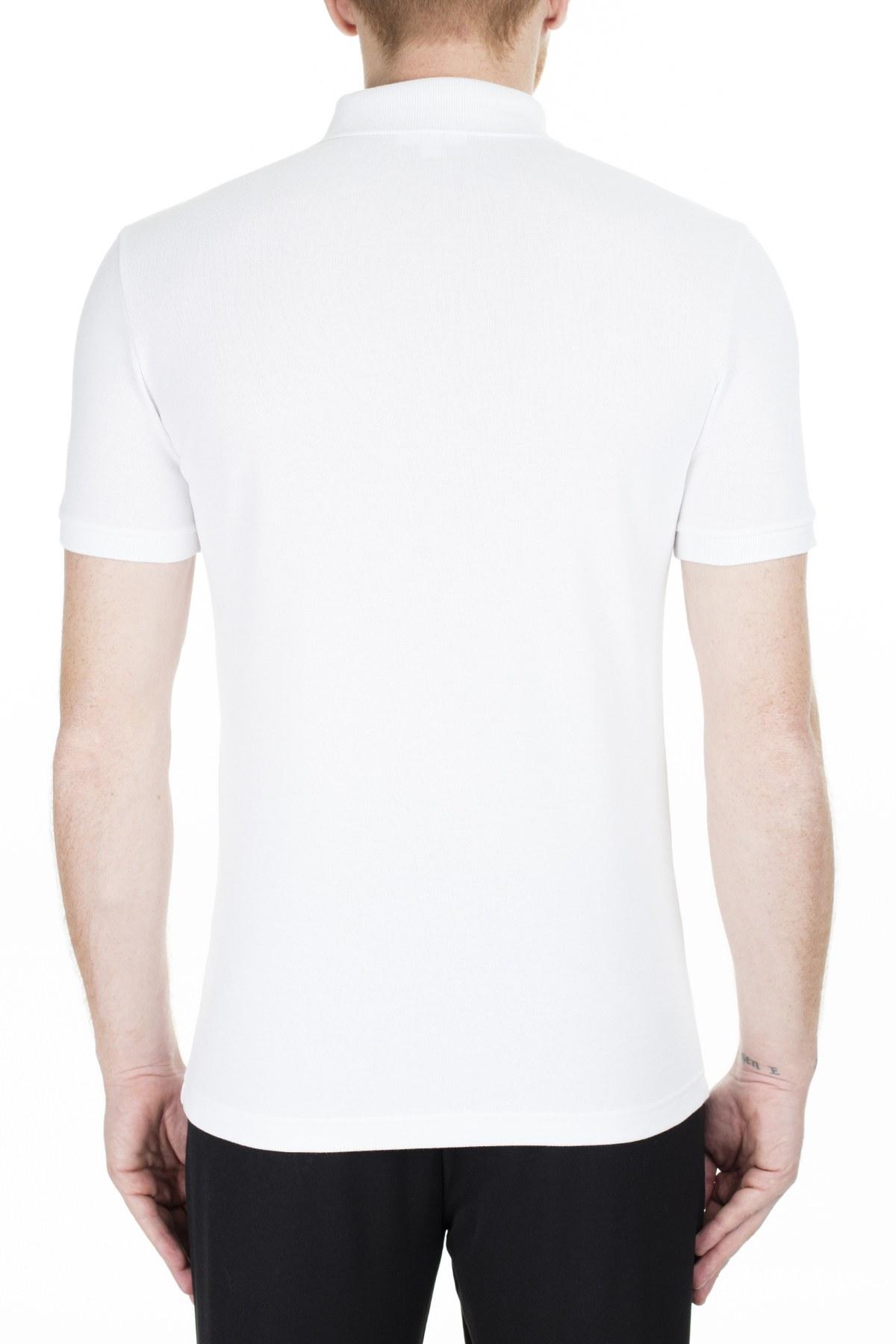 Lacoste Pamuklu Slim Fit T Shirt Erkek Polo PH4014 001 BEYAZ