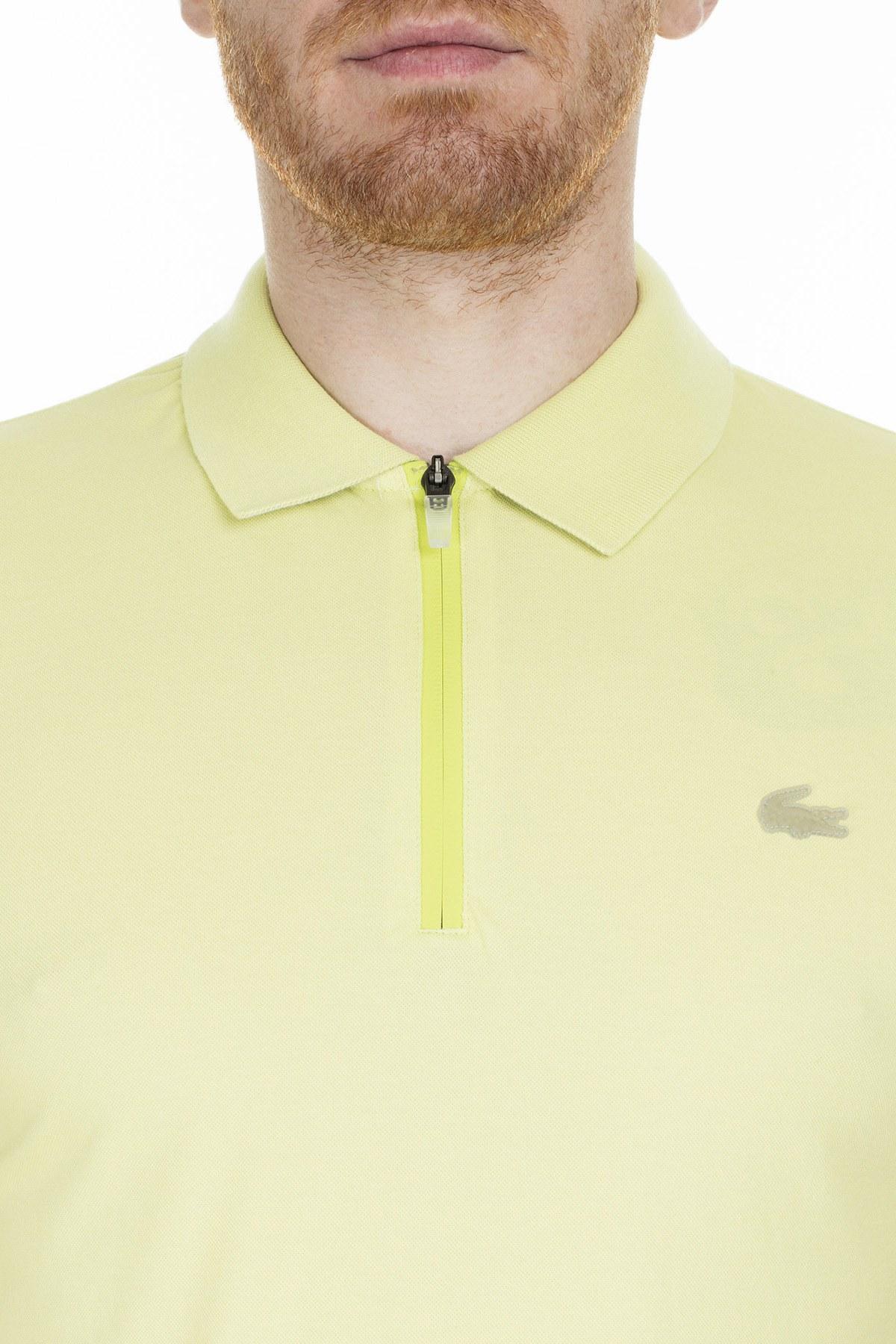Lacoste Slim Fit T Shirt Erkek Polo PH5109 TR7 SARI