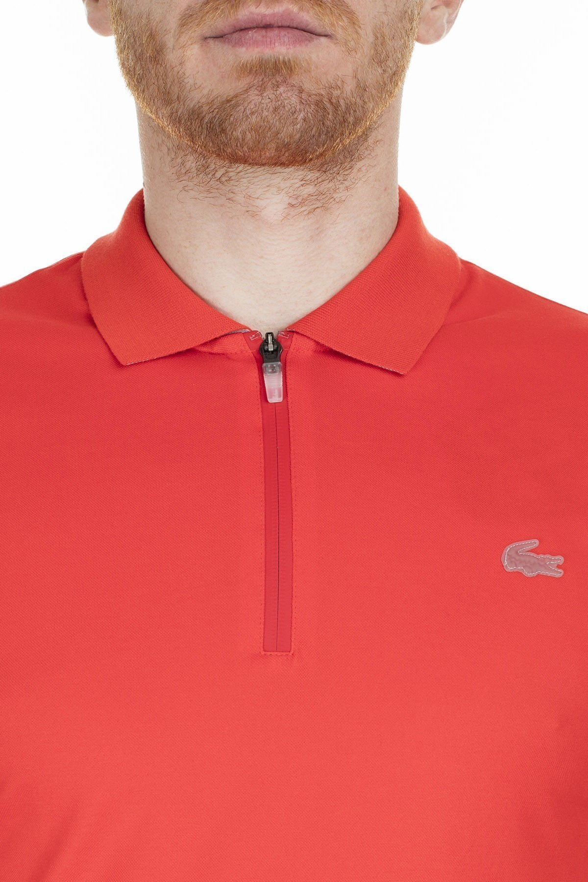 Lacoste Slim Fit T Shirt Erkek Polo PH5109 TS3 KIRMIZI