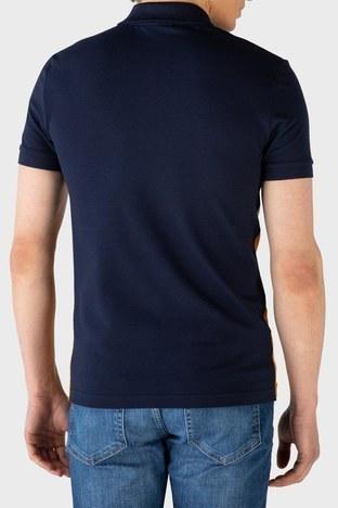 Lacoste - Lacoste Slim Fit Pamuklu Fermuarlı T Shirt Erkek Polo PH0104R 04L LACİVERT-KAHVE (1)