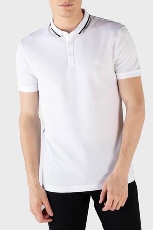 Lacoste - Lacoste % 100 Pamuk Düğmeli T Shirt Erkek Polo PH0154 54B BEYAZ