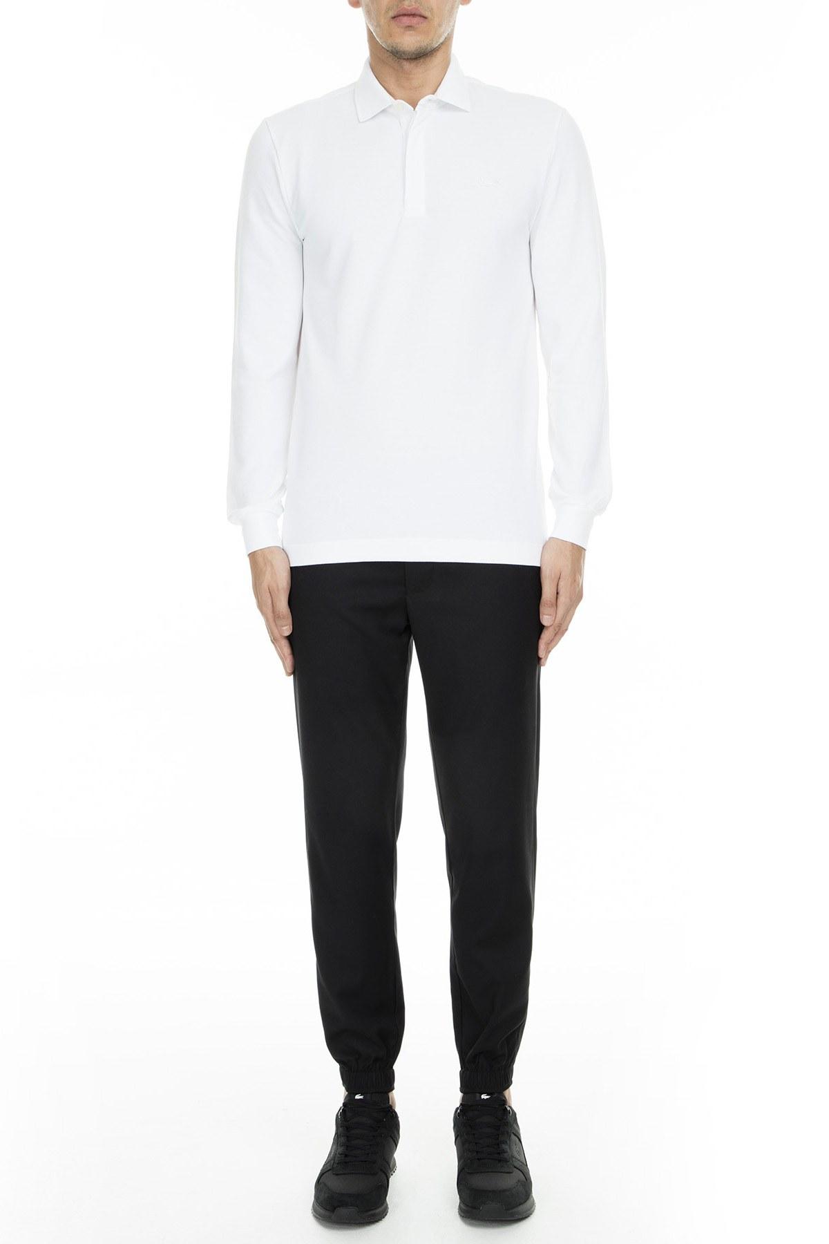 Lacoste T Shirt Erkek Polo PH2481 001 BEYAZ