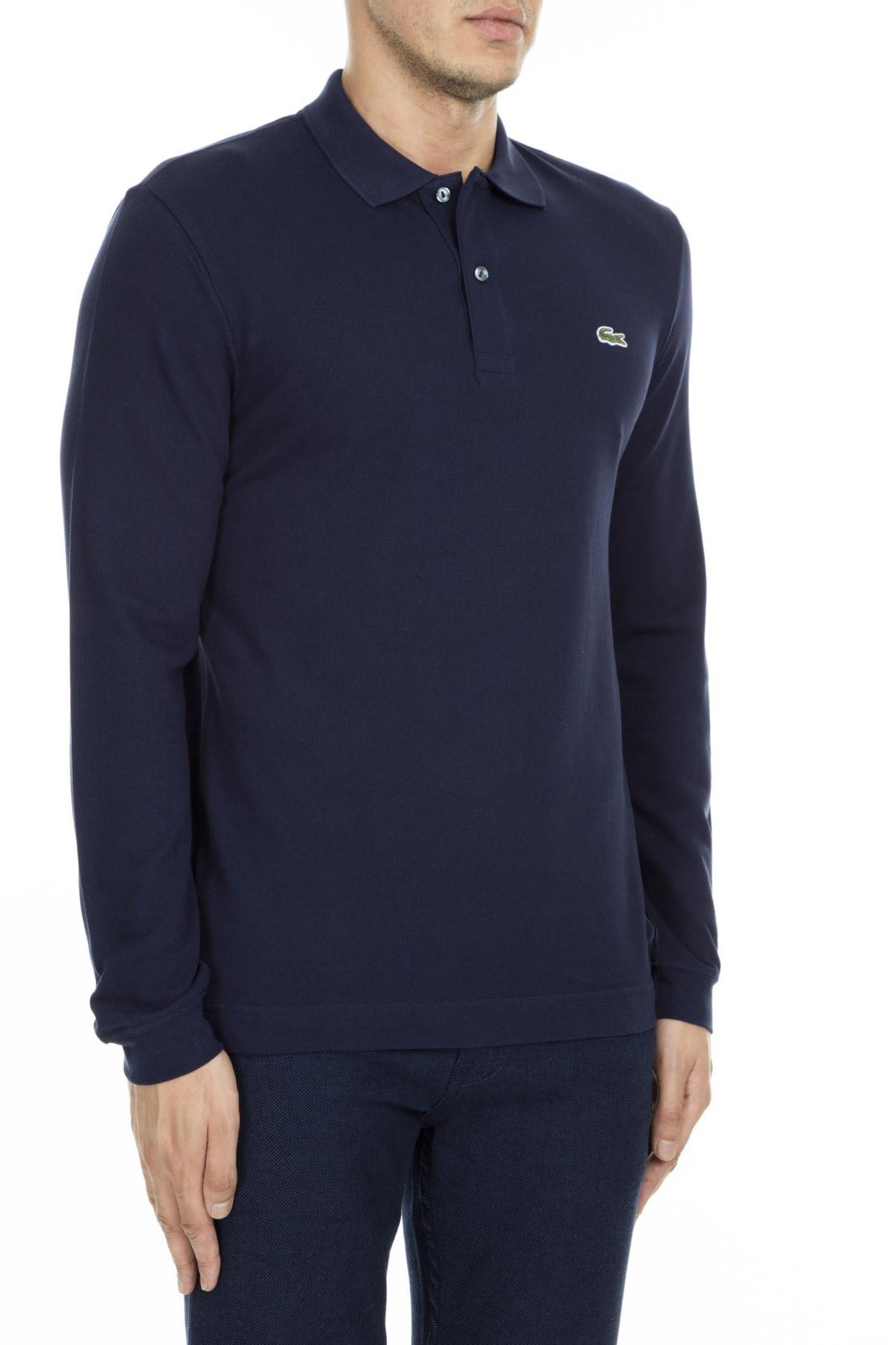 Lacoste T Shirt Erkek Polo PH4013 166 LACİVERT
