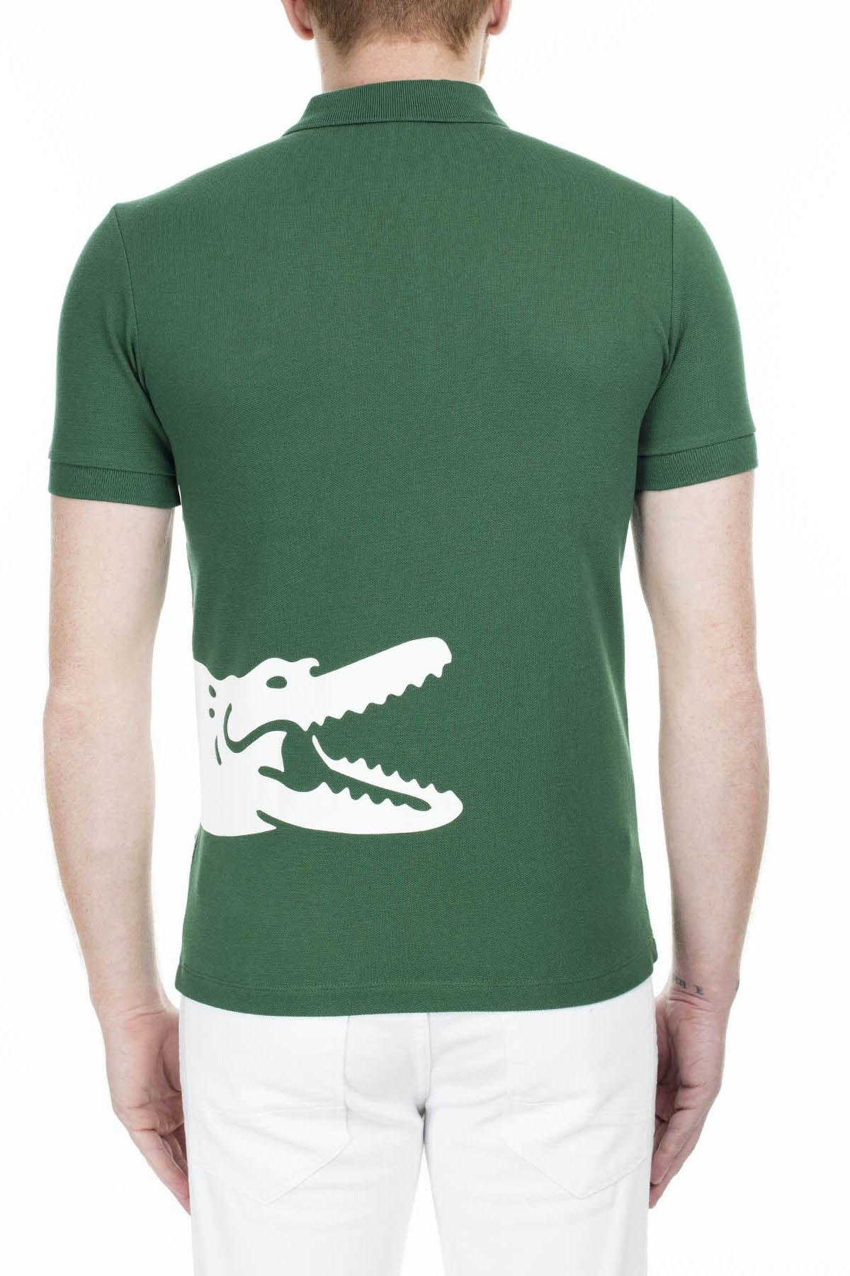 Lacoste T Shirt Erkek Polo PH5284 132 YEŞİL