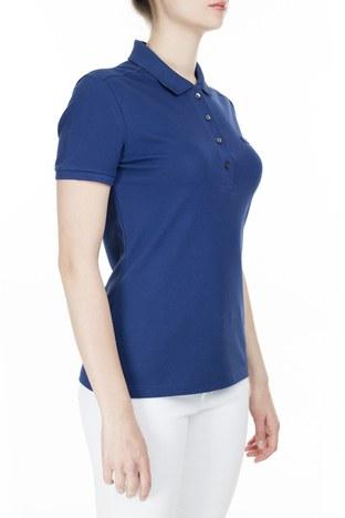 Lacoste T Shirt Kadın Polo PF5462 F9F SAKS-MAVİ