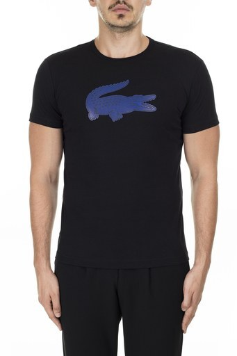 Lacoste Ultra Dry Pamuklu Bisiklet Yaka Erkek T Shirt TH2042 AL2 SİYAH