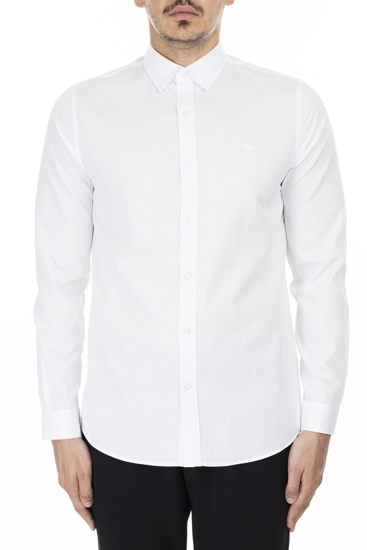 Lacoste Uzun Kollu % 100 Pamuk Slim Fit Erkek Gömlek CH2139 39A BEYAZ
