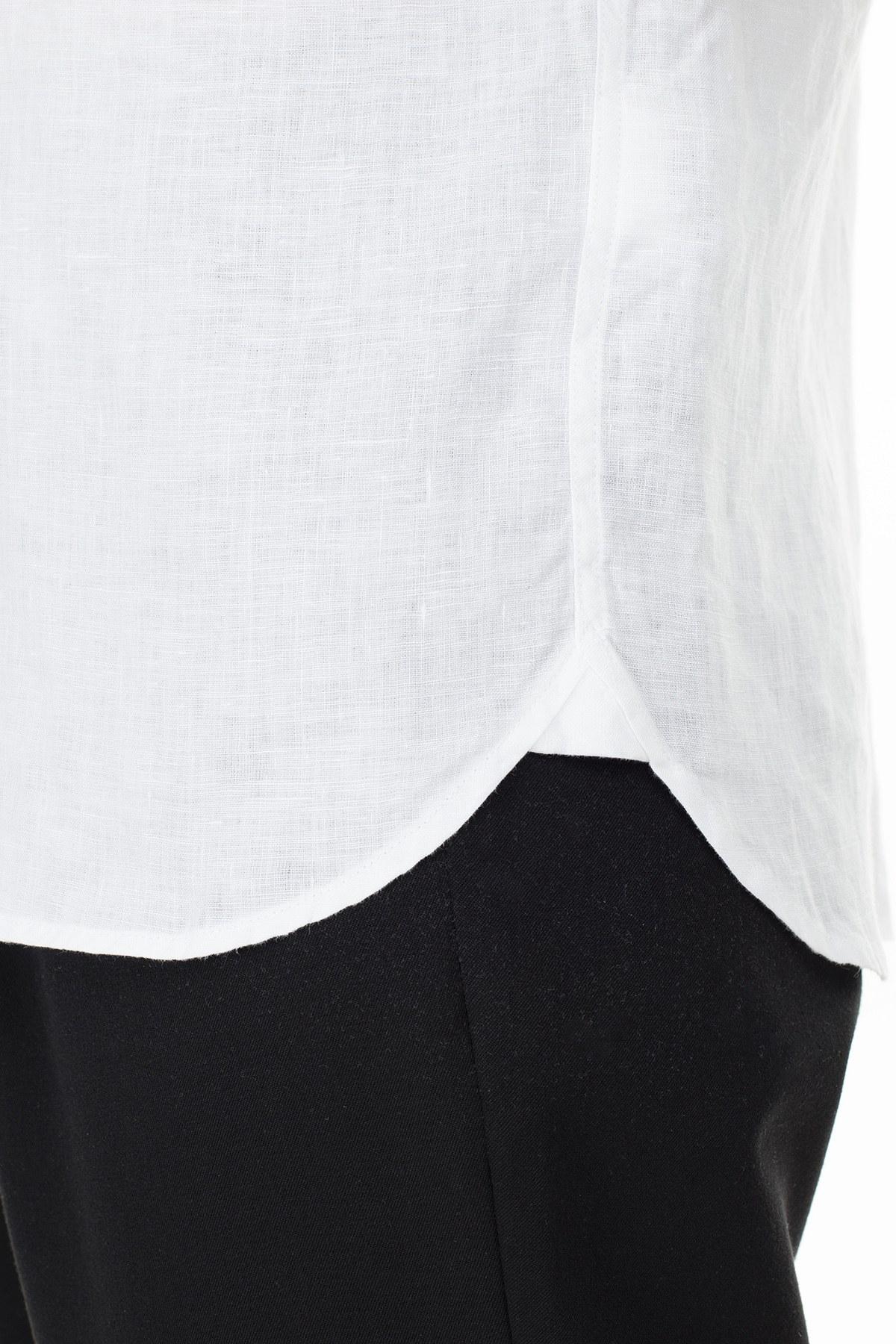 Lacoste Uzun Kollu Slim Fit Erkek Gömlek CH4990T 001 BEYAZ